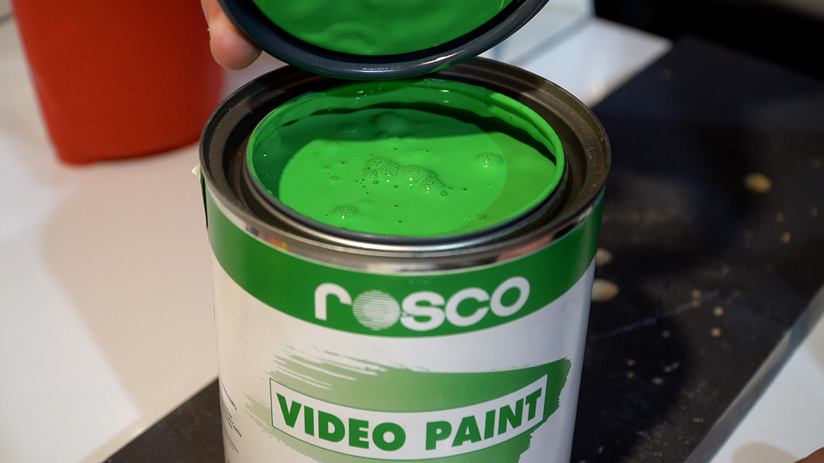 Rosco Chroma Key Green Paint in one-quart cans - perfect for small green screens.