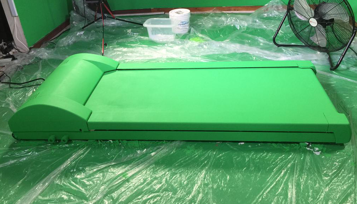 green screen treadmill