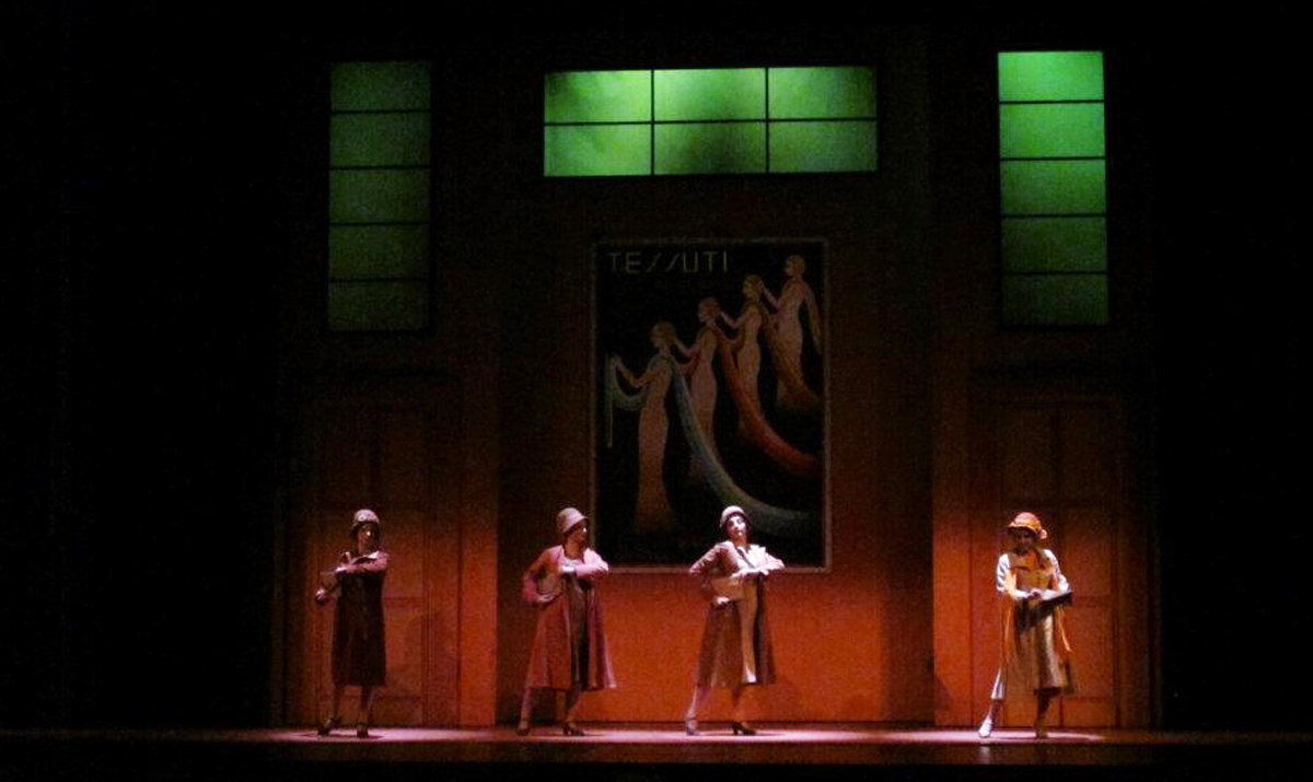 "Another scene from ""Don Pasquale"" that perfectly captures the rich colors Latronica used to illuminate the Art Deco set."